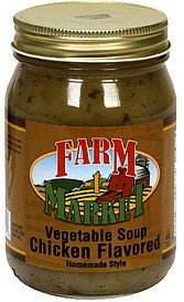 vegetable soup chicken flavored Farm Market Nutrition info