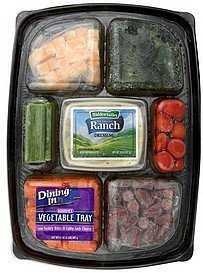 vegetable tray gourmet, with turkey bites & colby-jack cheese Dining In Nutrition info