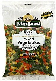 vegetables mixed Todays Harvest Nutrition info