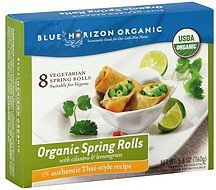 vegetarian spring rolls thai-style Blue Horizon Natural Nutrition info