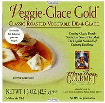 veggie-glace gold More than Gourmet Nutrition info