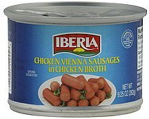 vienna sausages in chicken broth, chicken IBERIA Nutrition info