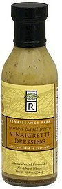 vinaigrette dressing lemon basil pesto Renaissance Farm Nutrition info