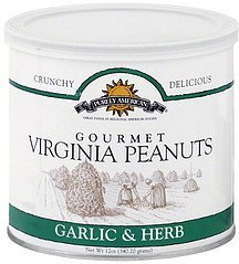 virginia peanuts gourmet, garlic & herb Purely American Nutrition info