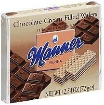 wafers chocolate cream filled Manner Nutrition info