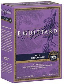 wafers couverture, milk chocolate Guittard Nutrition info