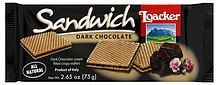 wafers dark chocolate Loacker Nutrition info
