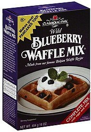 waffle mix wild blueberry Classique Fare Nutrition info