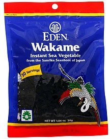 wakame instant sea vegetable Eden Nutrition info