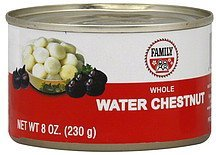 water chestnut whole Family Nutrition info