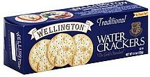 water crackers traditional Wellington Nutrition info