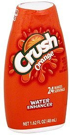 water enhancer orange Crush Nutrition info