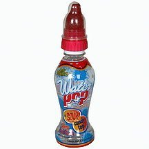water pop with sour candy top, cherry-fruit punch Belly Washers Nutrition info