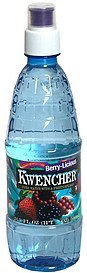 water pure with a fruity splash, berry-licious Kwencher Nutrition info