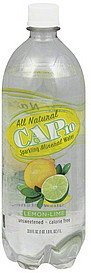 water sparkling mineral, lemon-lime Cap 10 Nutrition info