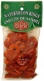 watermelon rings chili Mucho Sabor Nutrition info