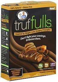 weight loss bars chocolate caramel Truffulls Nutrition info