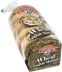 wheat english muffins Hannaford Nutrition info