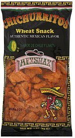 wheat snack chichurritos, sabor de chile y limon Mexsnax Nutrition info