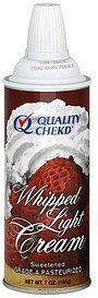 whipped cream light Quality Chekd Nutrition info