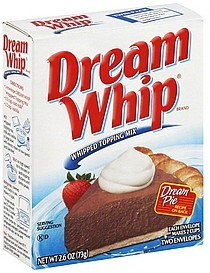 whipped topping mix Dream Whip Nutrition info