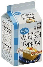 whipped topping Kineret Nutrition info