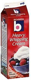 whipping cream heavy Broughton Nutrition info
