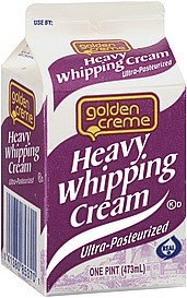 whipping cream heavy Golden Creme Nutrition info