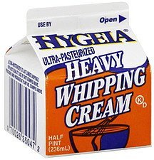 whipping cream heavy Hygeia Nutrition info