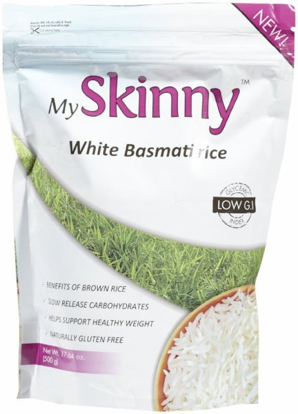 white basmati rice My Skinny Rice Nutrition info