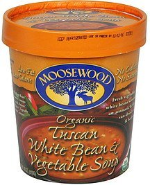 white bean & vegetable soup tuscan, organic Moosewood Nutrition info
