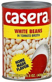 white beans in tomato broth Casera Nutrition info
