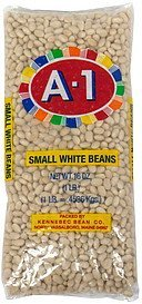 white beans small A-1 Nutrition info