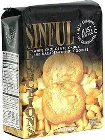 white chocolate chunk and macademia nut cookies pre-priced Sinful Selections Nutrition info