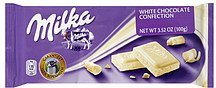 white chocolate confection Milka Nutrition info