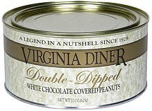 white chocolate covered peanuts double-dipped peanuts Virginia Diner Nutrition info