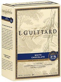 white chocolate pure Guittard Nutrition info