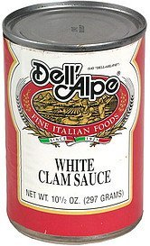 white clam sauce Dell'Alpe Nutrition info