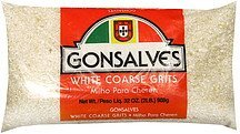 white coarse grits Gonsalves Nutrition info