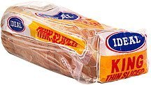 white enriched bread thin sliced, king Ideal Nutrition info