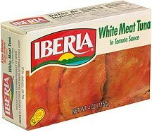 white meat tuna in tomato sauce IBERIA Nutrition info