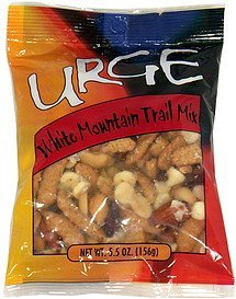white mountain trail mix URGE Nutrition info