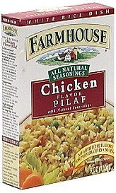 white rice dish, chicken flavor pilaf Farmhouse Nutrition info