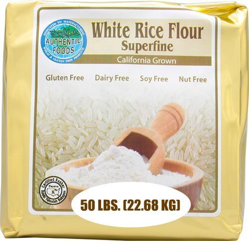 white rice flour superfine Authentic Foods Nutrition info