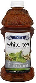 white tea unsweetened, hint o' mint Inkos Nutrition info