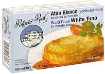 white tuna solid pack, in tomato sauce Palacio Real Nutrition info