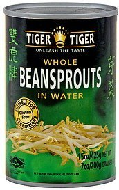 whole beansprouts in water Tiger Tiger Nutrition info