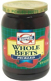 whole beets pickled Super G Nutrition info