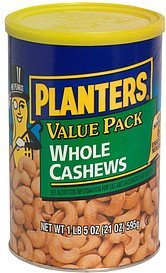 whole cashews value pack Planters Nutrition info