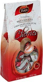 whole cherries premium milk chocolate covered Turin Nutrition info